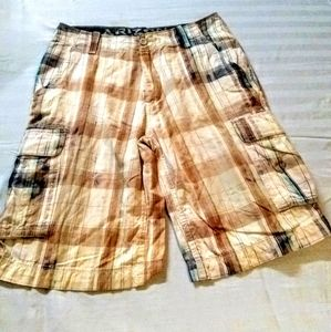 ARIZONA men's plaid walking shorts size 32 waist